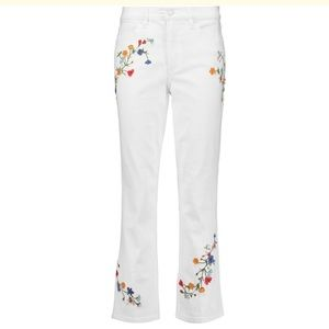 Tory Burch Carson Floral Embroidered Jeans